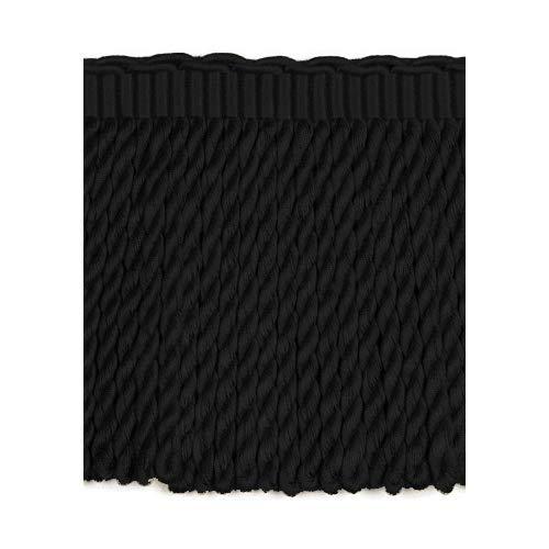 (DÉCOPRO 5 Yard Value Pack - 6 Inch Long Black Gold Bullion Fringe Trim|Basic Trim Collection|Style# BFEMP6 (21925)|Color: Tiger Stripes - K9 (15 Ft / 4.5 Meters))