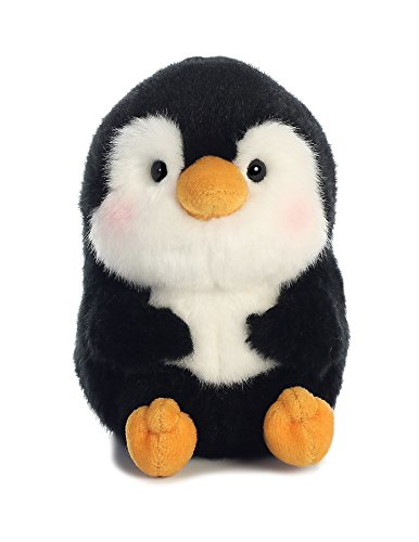Aurora World Rolly Pet Peewee Penguin Plush, 5 #34;