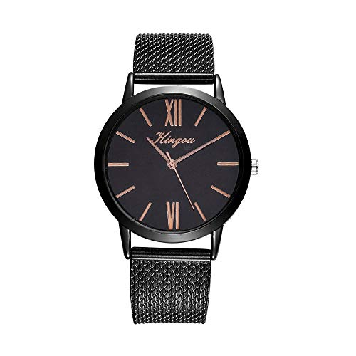 XBKPLO Quartz Watches for Women's Minimalist Fashion Silicone Strap Luxury Business Accessories Gift (A)