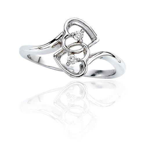 KATARINA Diamond Double Heart