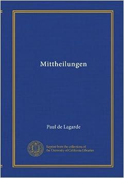 Mittheilungen (v.3-4) (German Edition)