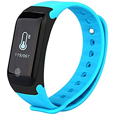 Fitness Tracker Heart Rate Monitor Wireless Smart Bracelet Waterproof Activity Tracker Pedometer Wristband Sleep Monitoring Smart Watch For Android And Ios Smartphones Blue Estimated Price £23.49 -