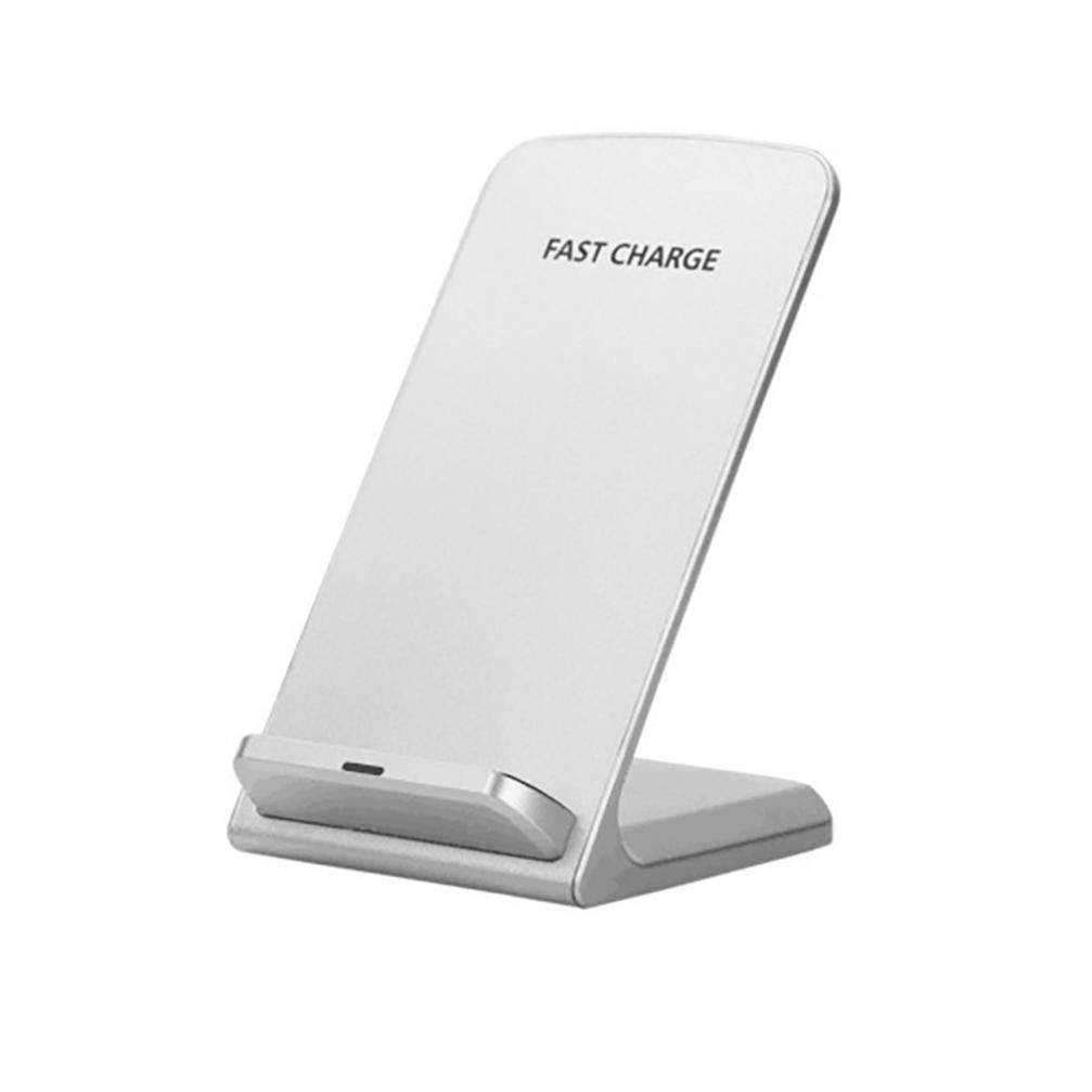 [Qi standard]3-Coils Wireless Charger Fast Charging Stand Dock For IPhone X/8/8Plus/Samsung S8/S8 Plus/S7/S7 Edge/S6 Edge/Note 9/Note 5 and Other Qi Compliant Device (White)