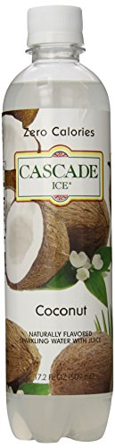 Cascade Ice Sparkling Water, Coconut, 17.2 Ounce (Pack of 12)