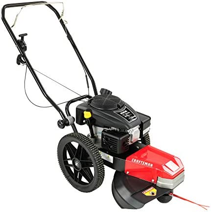 Craftsman CMXGCAQ108493 108493 Walk Behind High Wheel String Trimmer 22 Inch Cutting Width Includes Cutting Line and Heat Treated Cutting Blades