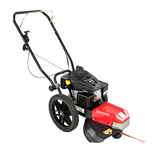 Craftsman CMXGCAQ108493 | 108493 | Walk Behind High Wheel String Trimmer | 22 Inch Cutting Width | Includes Cutting Line and Heat Treated Cutting Blades