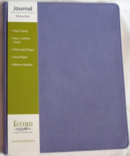 """Eccolo World Traveler Simply Lavender Faux Leather Lined Journal, 8""""x10"""""""