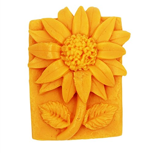 Longzang Sunflower Mould S417 Craft Art Silicone Soap Mold Craft Molds DIY Handmade Candle Molds