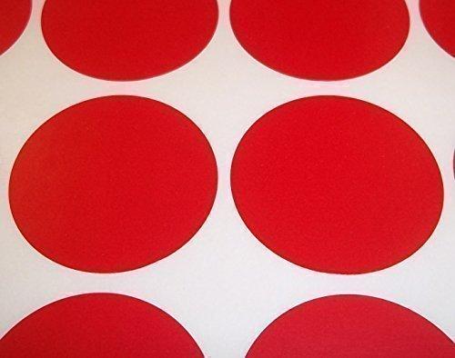 Audioprint Ltd. Farbetiketten Etiketten Aufkleber Rund Lagerkontrolle Farbcode Schildchen Punkte Sticker klebende Label 60 Stück Packung - 15mm, Rot