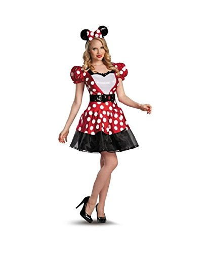 Glam Red Minnie Mouse Womens Costume deluxe