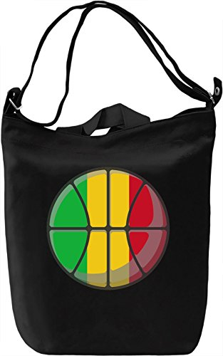 Bag Mali Canvas Day Giornaliera 100 Canvas DTG Canvas Cotton Premium Basketball Printing Borsa YwZYSaq