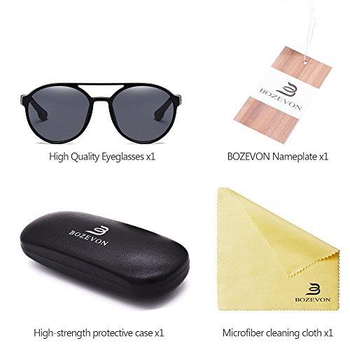 Protección Vintage aire Retro Gafas Mujer Hombre para Unisex de Al BOZEVON Redondas libre y 02 Estilo UV400 sol zwqSBCFvx