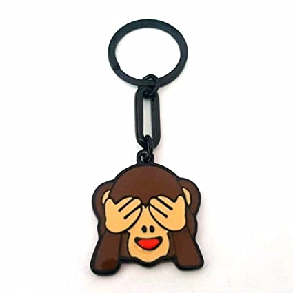 Llavero mono ocultar Face Emoji: Amazon.es: Oficina y papelería