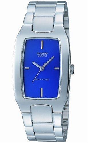 CASIO MTP-1165A-2CEF - Reloj analógico de cuarzo con correa de acero inoxidable para mujer, color azul/plateado: Amazon.es: Relojes
