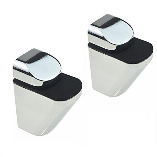 - Adjustable Wood/Glass Shelf Bracket Wall Mount, Polished Chrome, 2 Pack