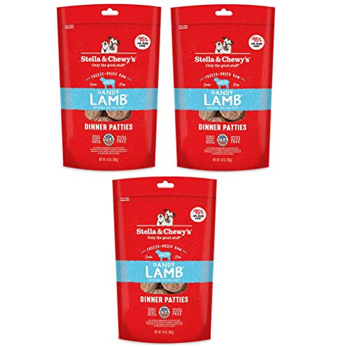 Stella & Chewy's Freeze Dried Dog Food for Adult Dogs, Lamb Patties, 16 Ounce Bag