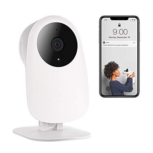 Nooie HD 1080P WiFi Camera Pet Camera Baby Monitor Wireless IP Camera Indoor Security Camera with Motion & Sound Detection, Super IR Night Vision, Two-Way Audio