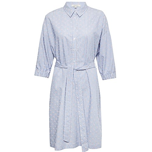 Plains Hannah Blue Blau Great Pinstripe Shirting Kleid Damen Dress Multi 40 Summer 7dwqF1
