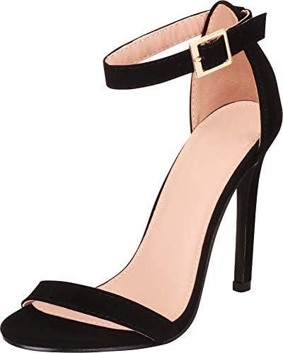 Cambridge Select Women's Classic Single Band Ankle Strap Stiletto High Heel Sandal