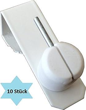 10x Fensterhaken Dekohaken Fensterclip Weiß für Ihre Fensterdekoration oder zum Anbringen Ihrer Scheibengardinenstangen Fenst