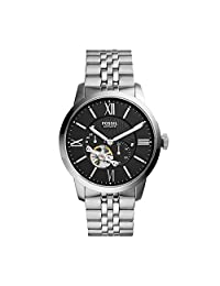 Fossil Men's ME3107 Analog Display Automatic Self Wind Silver Watch