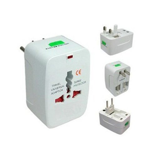 World Travel Wall Charger Adapter All in One International AC Power Converter