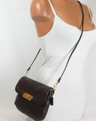250d72045add Coach Kristin Leather Swingpack Crossbody Messenger Bag Purse 45128 Plum