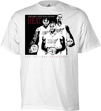 Adidas Miami Heat de la NBA Caricatura 2011 Champions Camiseta, Hombre, Blanco: Amazon.es: Deportes y aire libre
