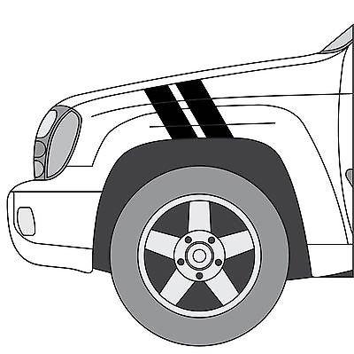 Chevy Trailblazer Hash Mark Stripes Grand Sport Fender Bar ()