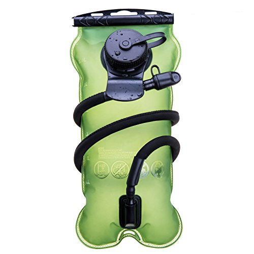 BONL Emerald Hydration Bladder 100 Oz/3-Litres, Military Class Quality Water Reservoir, Wide-Opening, Tastefree for Hiking, Bike Trip, Climbing, Hydro Backpack, Outdoor Event