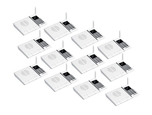 Samcom 20-Channel Long range FM Wireless Intercom System for Home and Office 12 stations (White) by SAMCOM