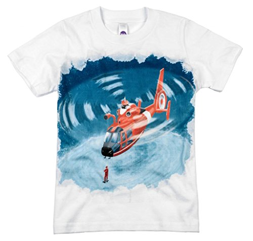 Shirts That Go Little Boys' Helicopter T-Shirt 10 White ()