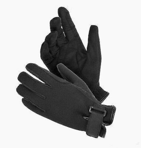 tough-1ブラックネオプレンサイズLarge Riding Gloves Western英語馬タック   B016WMYWOY