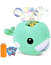 Auney Bubble Machine, Automatic Durable Bubble Blower for Kids, Portable Bubble Maker 2000+ Bubbles Per Minute, Simple and Easy to Use for Party Bubble Toys