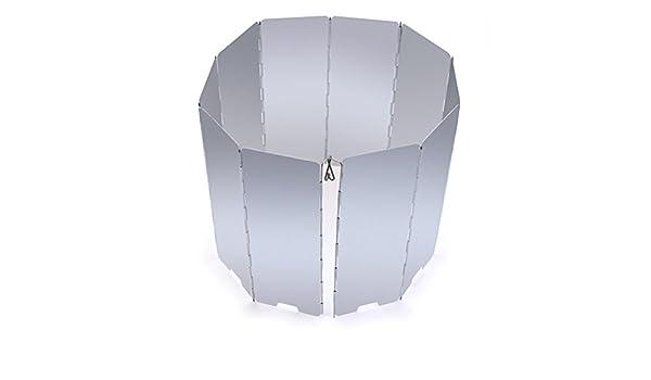 WINOMO 10 placas parabrisas plegable estufa viento protector de parabrisas para Camping Picnic: Amazon.es: Deportes y aire libre