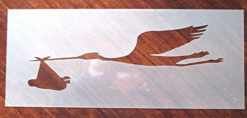 OutletBestSelling Reusable Sturdy Baby Delivery Stork Stencil for Air ()