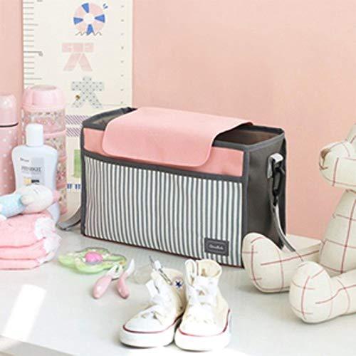 Vi.yo Universal Kinderwagen Organizer Kinderwagentasche Stroller Buggy Tasche Multifunktion Aufbewahrungstasche Baby Wickeltasche Kinderwagen-Zubeh/ör Pink