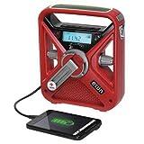 Portable Multipurpose Weather Radio, Red
