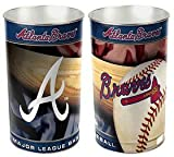 Atlanta Braves 15 Waste Basket - Licensed MLB Baseball Merchandise