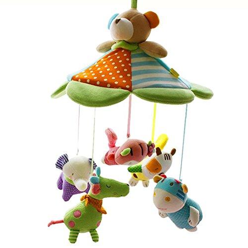 SHILOH Baby Crib Decoration 60 tunes Lullabies Plush Musical Mobile (Happy Teddy)