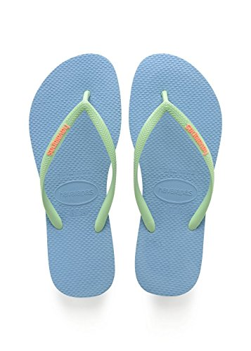 - Havaianas Womens Slim Crystal Glamour Beach Lightweight Rubber Flip Flop - Steel Gray - 6