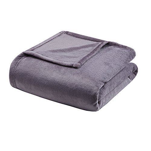 (Madison Park Microlight Luxury Blanket Purple 9090 Full/Queen Size  Premium Soft Cozy Microlight For Bed, Coach or Sofa)
