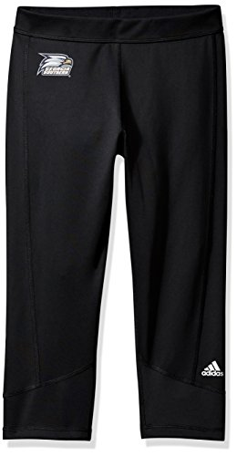 adidas Adult Women Team Logo Techfit Solid 3/4 Tight, Black, X-Large ()