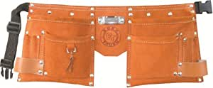 Born Tough KTB-01 10 Pocket Suede Leather Kids Tool Belt / Tool Apron, Brown