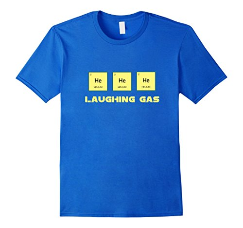 Man Laughing T-shirt - Men's Laughing Gas Helium Periodic Table Atomic Cute Funny T-shirt XL Royal Blue