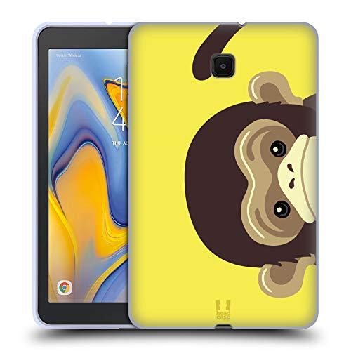 Head Case Designs Monkey Peeking Animals Soft Gel Case Compatible for Galaxy Tab A 8.0 (2018)