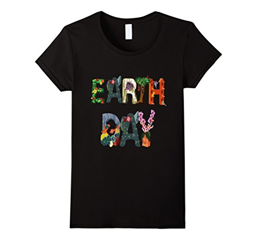 Womens National Earth Day T-Shirt - Earth Day April 22 Large Black
