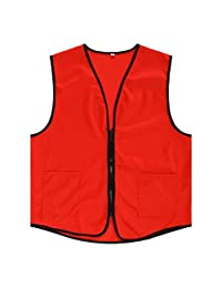 TopTie Supermarket Vest / Apron Vest For Clerk Uniform Vest With Zipper Closure