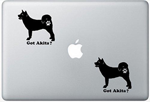 - Got Akita - Akita Dog Decal PetsAffectionLaptop0177 Set Of Two (2x) , Dog Decal , Sticker , Laptop , Ipad , Macbook