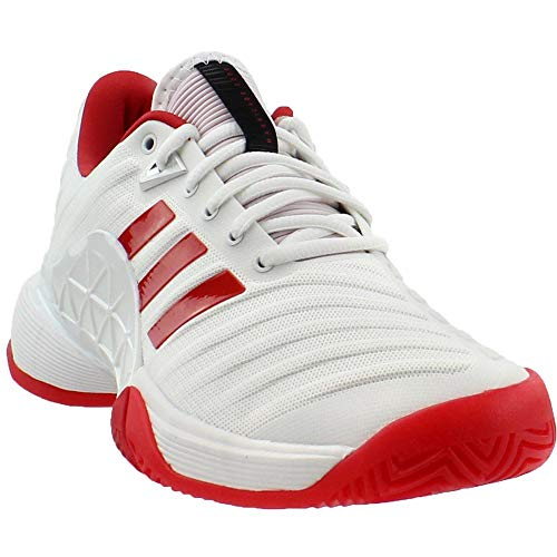 new product 0fa58 3d916 Galleon - Adidas Womens Barricade 2018 W Tennis Shoe, WhiteScarletScarlet,  8 M US